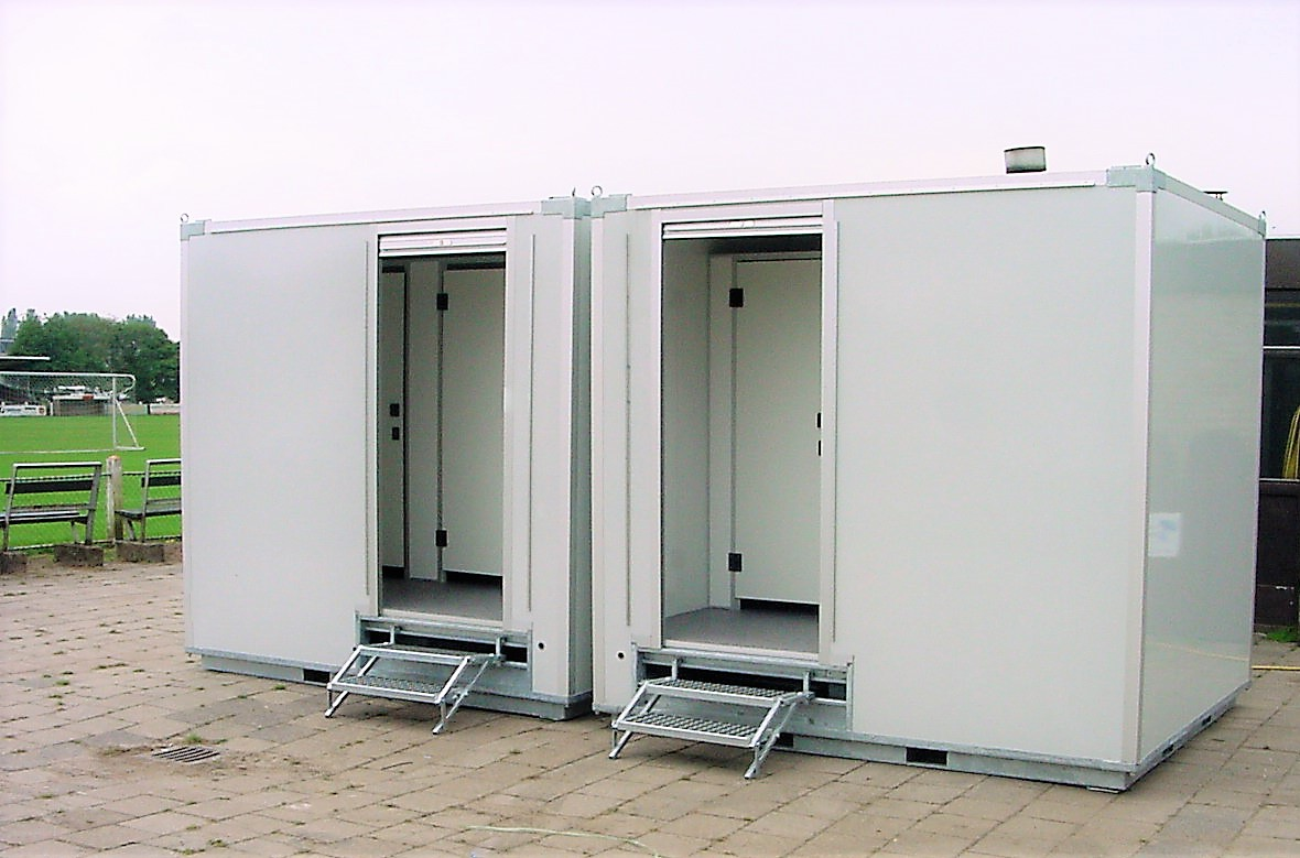 Toiletwagen huren bij tent of alu hal